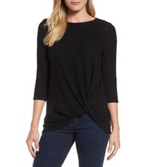 women's gibson cozy twist front pullover, size x-large - black