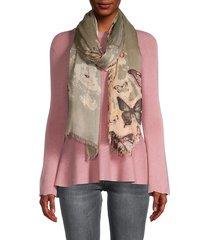 saachi women's scattered butterfly-print scarf - purple