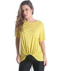 blusa com franzido frontal essentials feminina - feminino