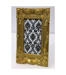 porta retrato color dourado