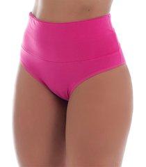 calcinha click mais bonita conforto segura barriga algodão penteado rosa
