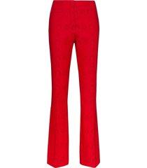 marine serre moonogram slim fit tailored trousers