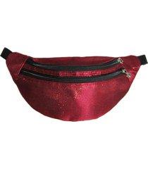 pochete maria adna brilhante vermelha - kanui