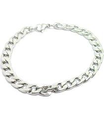 pulseira kodo acessórios aço prata
