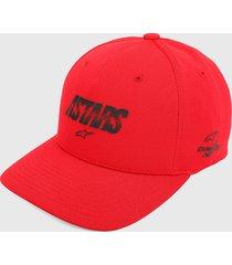gorra rojo-negro alpinestars angless velo