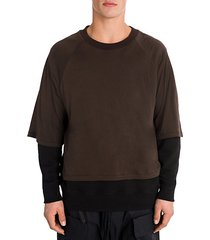 t-shirt layered pullover