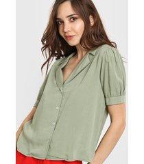 camisa verde nano isabella