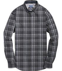 joe joseph abboud repreve® black & gray plaid sport shirt
