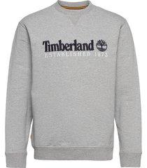 est1973 crew sweats sweat-shirt tröja grå timberland