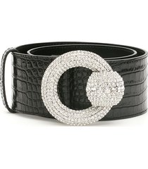 alessandra rich belt with crystal buckle