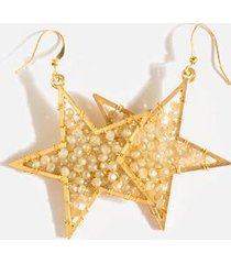 celia star bead earrings - champagne