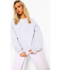 grijze oversized hoodie, light grey