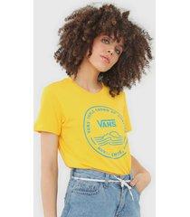 camiseta vans geométrica amarela