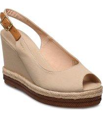 ivalice wedge sandal sandalette med klack espadrilles beige gant