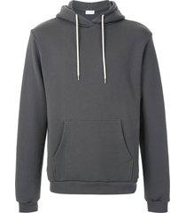 john elliott beach drawstring hoodie - grey