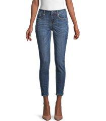 vigoss women's studded ankle skinny jeans - dark wash - size 29 (6-8)