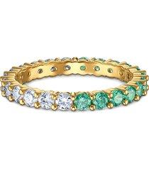 anel feminino vittore half em metal - ouro