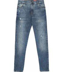 jean silueta slim fit, 5 bolsillos lavado de moda para joven 00956