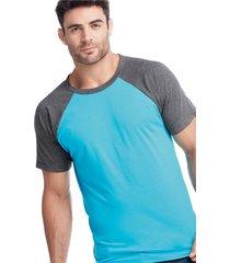 camiseta adulto masculino azul turquesa marketing personal