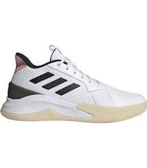 zapatillas basquet adidas runthegame hombre blanco