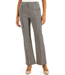 alfani printed pintucked trousers, created for macy's