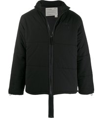 a-cold-wall* elongated-zip padded jacket - black