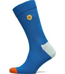embroidery sunny smile sock underwear socks regular socks blå happy socks