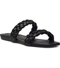 mulan shoes summer shoes flat sandals svart mango