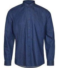 minimum heren overhemd walther egaal denim button-down regular fit
