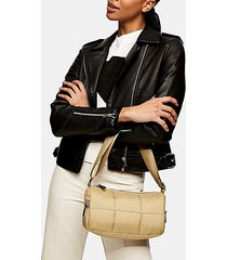 considered khaki square quilted shoulder bag - khaki