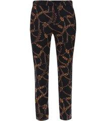 pantalon estampado cadenas color negro, talla 12