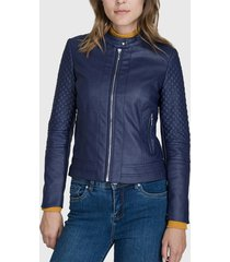 chaqueta ash azul - calce ajustado