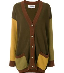 jc de castelbajac pre-owned braided details cardigan - brown