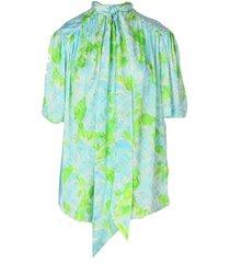 balenciaga s/s scarf blouse
