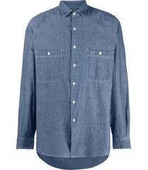 aspesi straight-fit denim shirt - blue
