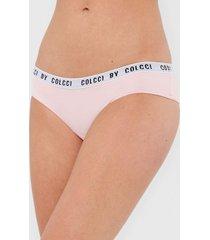 calcinha colcci underwear caleã§on lettering rosa - rosa - feminino - poliamida - dafiti
