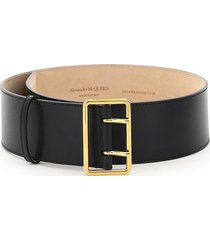 alexander mcqueen military leather belt