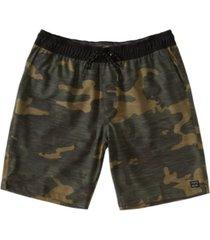 men's croshort sleevefire elastic shorts