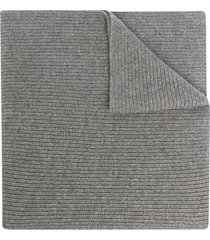 ami amalia chunky ribbed knit scarf - grey