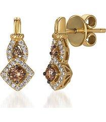 le vian chocolatier® 14k honey gold™, chocolate diamonds® & vanilla diamonds® earrings