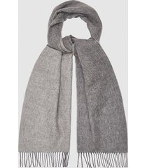 reiss galvin - wool cashmere blend scarf in charcoal, mens