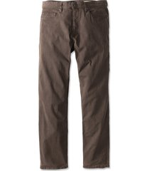 5-pocket stretch twill pants, chocolate, 42, inseam: 34 inch