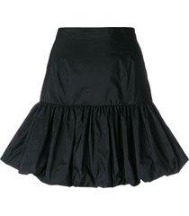 gathered hem skirt