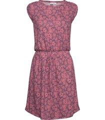 short sleeve pleated waist dress stickad klänning rosa gap