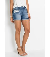 jeans short met kant