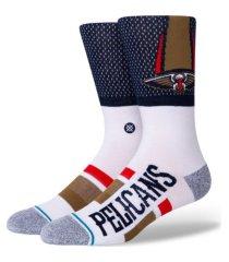 stance men's new orleans pelicans shortcut 2 crew socks