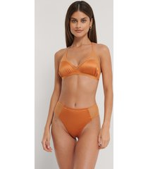 na-kd lingerie trosa i mesh med hög midja - orange