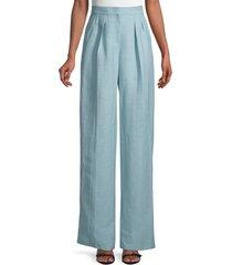 max mara women's nembo straight leg pants - light blue - size 6