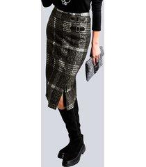 kjol alba moda svart::offwhite