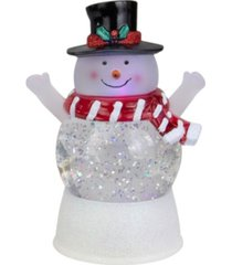 northlight led lighted snowman with holly and berries top hat blowing glitter christmas water globe